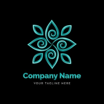 Detailed holistic logo template