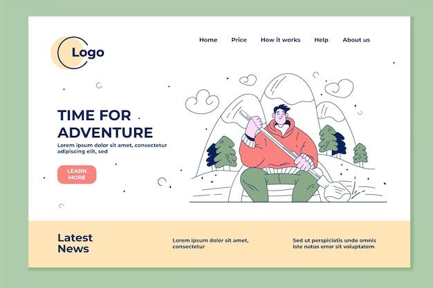 Detailed horizontal adventure banner
