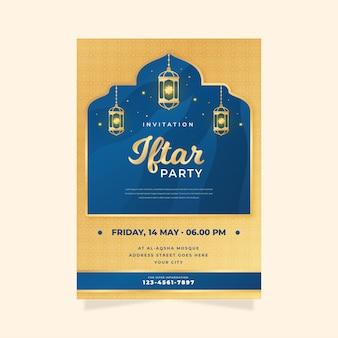 Modello di invito iftar dettagliato