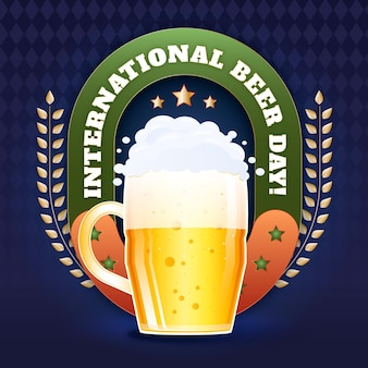 Detailed international beer day illustration