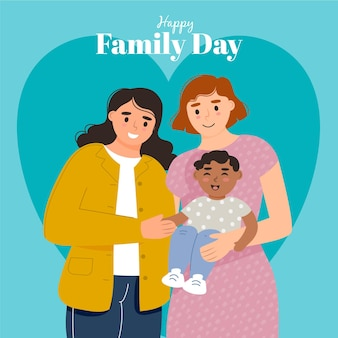 Illustrazione dettagliata della giornata internazionale delle famiglie