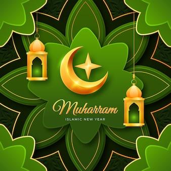 Illustrazione dettagliata del nuovo anno islamico