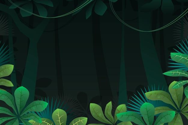 덩굴 식물과 자세한 정글 배경