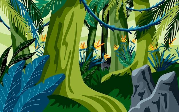 詳細なジャングルの背景