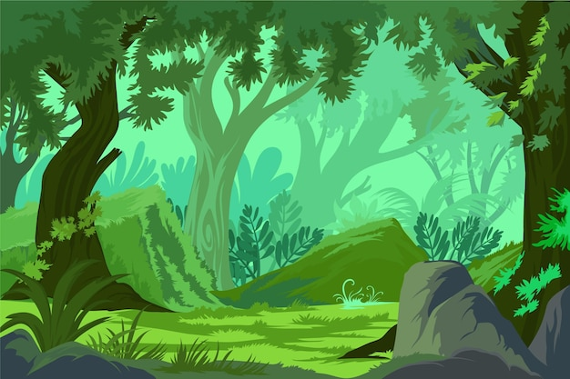 Detailed jungle background