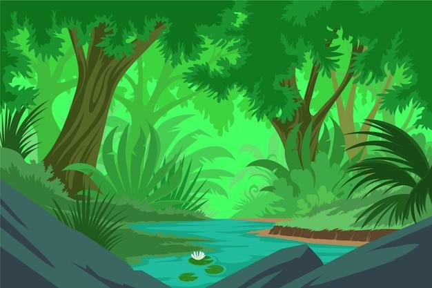 Подробный фон джунглей