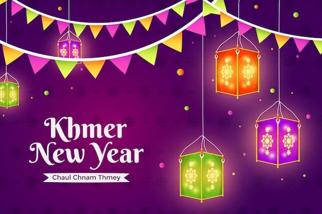 Detailed khmer new year illustration