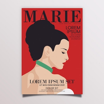 Detailed magazine cover for fashion