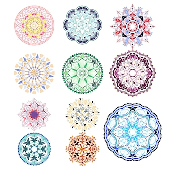 Detailed mandala badges