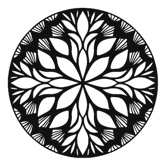 Detailed mandala rounded ornament