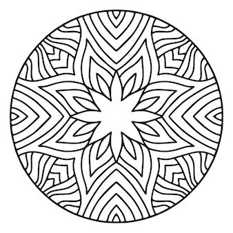 詳細な曼荼羅の丸い飾り