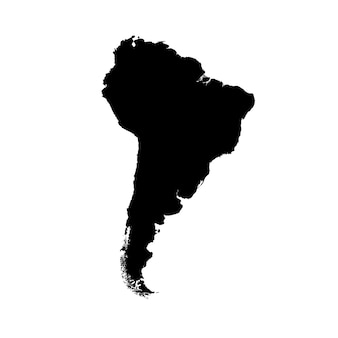 Detailed map of south america
