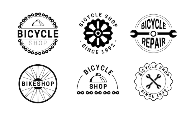Подробный шаблон логотипа велосипедного механизма