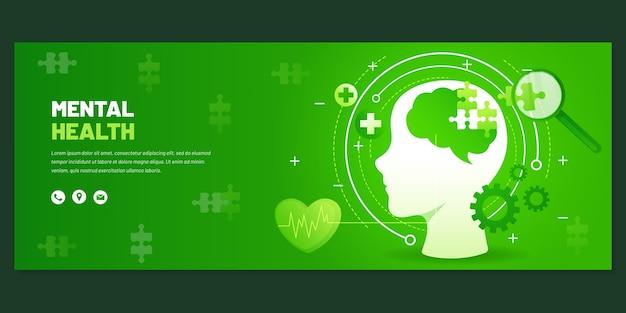 Detailed mental health facebook cover