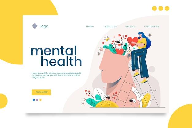 Detailed mental health landing page