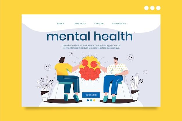 자세한 정신 건강 방문 페이지 무료 벡터