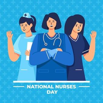 Подробная иллюстрация национального дня медсестер
