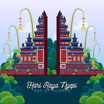 자세한 nyepi 축하 그림