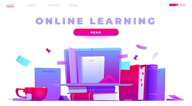 Detailed online learning homepage