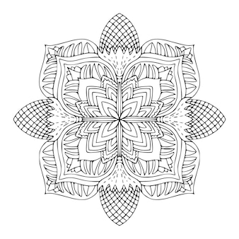 Detailed ornament pattern colouring book page