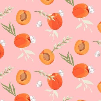 Detailed peach pattern design