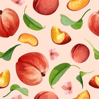 Детальный дизайн персикового узора
