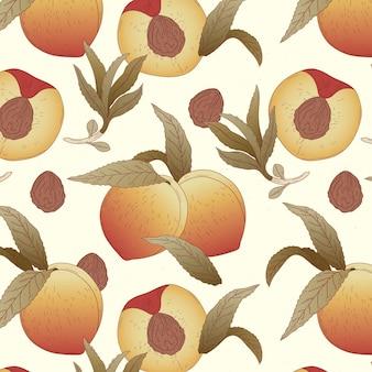 Подробный дизайн персикового узора