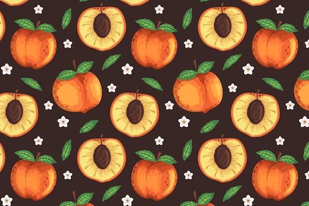 Detailed peach pattern