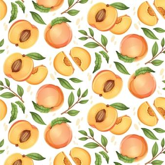 Подробный персиковый узор