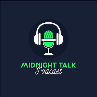 Detailed podcast logo midnight talk