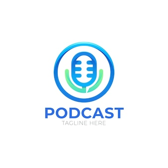 Detailed podcast logo template