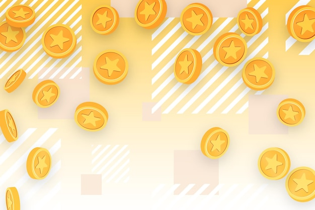 Detailed point coins background