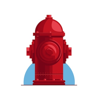 Detailed red fire ground hydrant