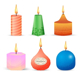 Detailed scented candle collection