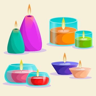 Detailed scented candle pack