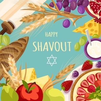 Illustrazione dettagliata di shavout