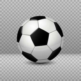 Detailed soccer ball isolated on transparent background