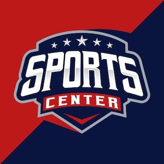 Detailed sports center esport and sport logo template