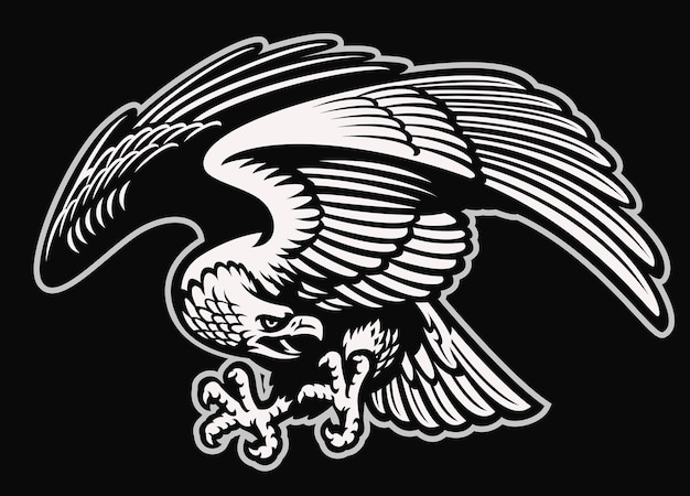 Detailed style of eagle mascot