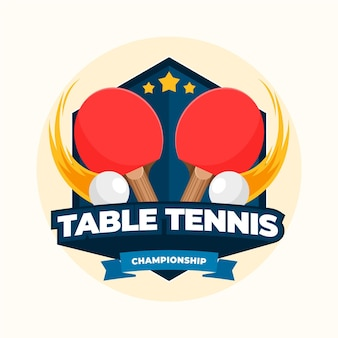 Detailed table tennis championship logo