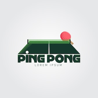 Detailed table tennis logo concept