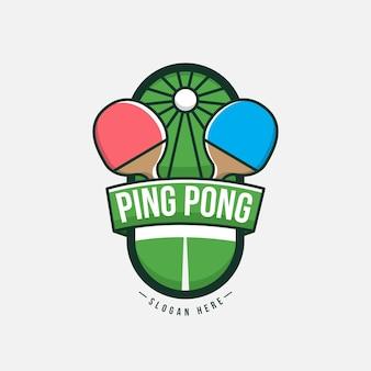 詳細な卓球ロゴのコンセプト