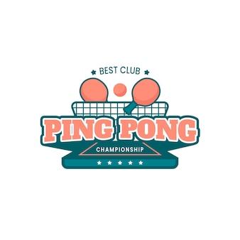 Modello dettagliato di logo di ping-pong
