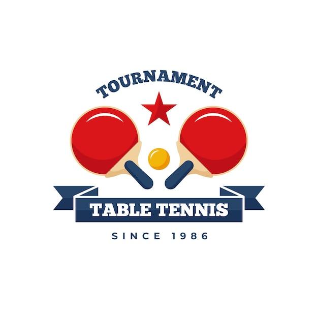 Detailed table tennis logo