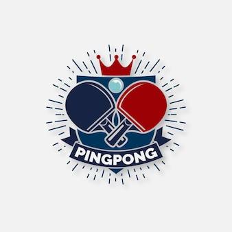 詳細な卓球ロゴ