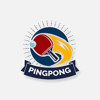 Detailed table tennis logo