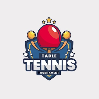 Detailed table tennis tournament logo