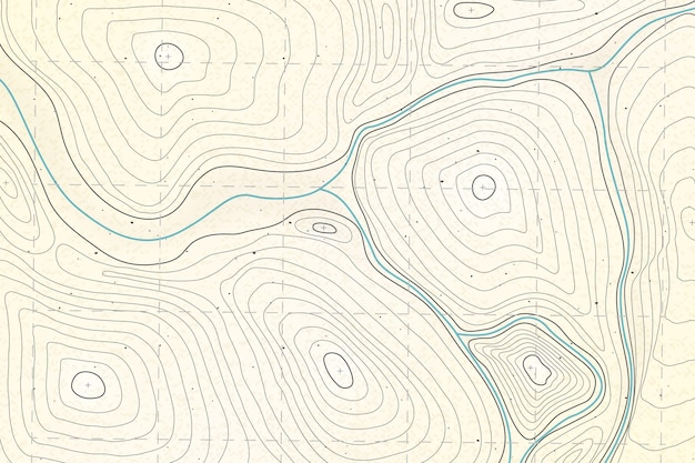 Detailed topographic map background