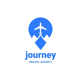 Detailed travel logo for agency