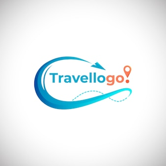 Detailed travel logo concept